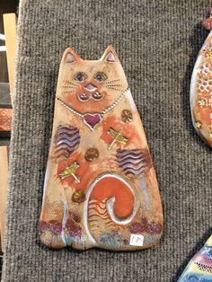 Cute cats by Barbara Haddad, Catfish Corner Holiday Market, Catfish, Cute Cats, Gift Guide, Corner, Clay, Lovers, Gifts, Animals