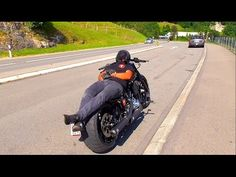 Harley Davidson FXSB Breakout Rideouts June/August 2016 - YouTube