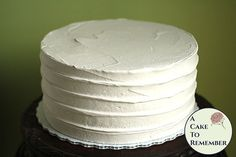 8 round faux cake ridged icing fake cake for photo