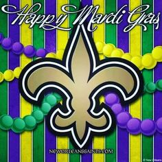 Saints and Mardi Gras. Nfl Saints, New Orleans Saints Football, New Orleans Mardi Gras, Who Dat, Rock Design, Holiday Pictures, Potpourri, Louisiana, Happy Holidays
