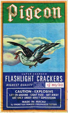Pigeon C4 80-20 Firecracker Brick Label by Mr Brick Labe