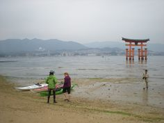 kayaking at Miyajima, Japan