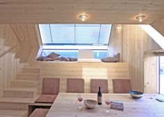 Alpine holiday cabin by Peter Jungmann has metal feet and a beak