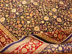 "Turkish Hereke ""Flowers of Seven Hills"" Pure Silk Rug"