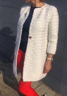 Free Crochet Patterns For 3 Winter Coats - Easy Crochet Winter Coat Ideeas - Crochet Crafty Ideas ( Free Pattern) Crochet Coat, Crochet Winter, Crochet Jacket, Knitted Coat, Crochet Cardigan, Crochet Clothes, Easy Crochet, Free Crochet, Crochet Granny