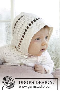 My Sweetie Hat - Crochet hat with textured rows and lace border for Christenings or special occasions in DROPS BabyAlpaca Silk. Sizes 0 - 2 years. Free crocheted pattern DROPS Baby 29-6