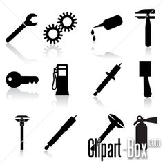 CLIPART MECHANICAL ICONS