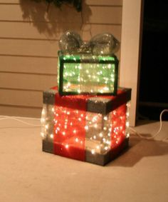 Christmas Gift Box Decorations Create A Lighted Holiday Gift Box  Diy Light Christmas Gift