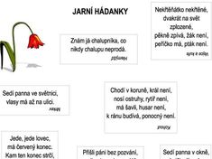 Jarní hádanky – Dětské stránky Owl Name Tags, Games For Kids, Montessori, Worksheets, Kindergarten, Crafts For Kids, Preschool, Activities, Education