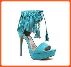 a2a9ffcab88 Qupid Women s Fringed Platform Sandal