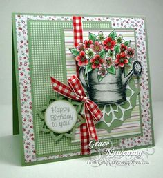 Handmade Greeting Cards / This is just a lovely card that anyone would love to receive, especially a gardener. by bethany