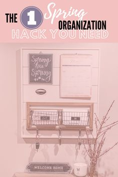 Organize your home and family with this simple command center DIY! It's the only organization hack you'll need this spring. Keep your keys, mail and calendar all in one place! Home Organisation Tips, Bedroom Organisation, Kitchen Organisation, Home Office Organization, Organizing Your Home, Organized Mom, Home Management, House Cleaning Tips, Minimalist Home