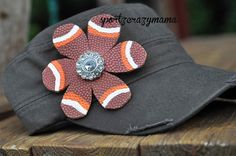 Tennessee Vols Football Flower Bling Hat by SportzCrazyMama, $25.00