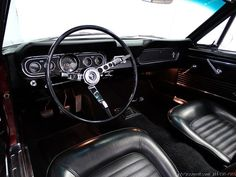 66 MUSTANG - Pretty much my daily view when driving my first car. ~1987