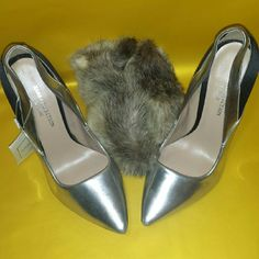 Zara Collection by basic silver & black pumps -Never worn with minor scuff on right foot right sides but hardly seen Zara Shoes Heels