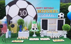 Real Madrid Soccer Party Sweet Table/Dessert Table