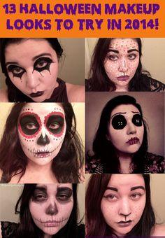 13 Halloween Makeup Looks to Try in 2014! http://storybookapothecary.com/13-halloween-makeup-looks-try-2014/?utm_campaign=coschedule&utm_source=pinterest&utm_medium=Tianna%20%40%20Storybook%20Apothecary&utm_content=13%20Halloween%20Makeup%20Looks%20to%20Try%20in%202014%21