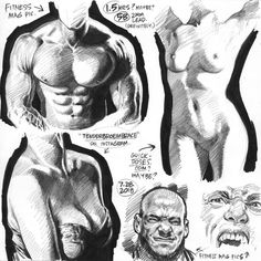 SKETCH BOOK Stalled out on the day's EMPOWERED page so I spent the rest of the third shift on yet another shading-oriented set of pencil studies from random photoreferenceincluding an IG pic of at lower left. And that's it for the workday folks! Anatomy Sketches, Body Sketches, Anatomy Art, Anatomy Drawing, Drawing Sketches, Art Drawings, Human Figure Drawing, Figure Sketching, Figure Drawing Reference