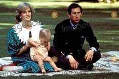 April 23, 1983: Prince Charles and Princess Diana with nine-month Prince William on the lawn of the Government House in Auckland, New Zealand. Photo By:alpha-Globe Photos, Inc 1983