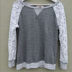 Philosophy By Republic Lace Sweatshirt Cute and comfortable loose fitting sweatshirt Philosophy Tops Sweatshirts & Hoodies