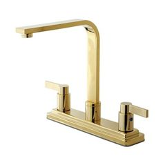 Elements of Design EB879 NuvoFusion Euro High Rise Spout Two Handle Kitchen Faucet
