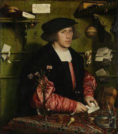 Portrait of the merchant Georg Giese. Hans Holbein the younger Hans Holbein The Younger, Elizabethan Era, Elizabethan Fashion, Museum, Oil Portrait, Renaissance Art, Renaissance Clothing, Large Painting, Basic Painting