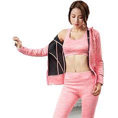 DUBAOBAO Femmes Yoga Rose Costume Gris kit de Sport pour Les Femmes Top  Soutien-Gorge Pantalons vêtements de Course de Danse Costume Pantalon de  Jogging ... 1a43dd00cde