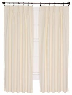 Ellis Curtain Crosby Natural Thermal Insulated 96 By 84 Inch Pinch Pleated Foamback Patio Panel 730462707512 Cotton Curtains, Velvet Curtains, Drapes Curtains, Drapery, Insulated Curtains, Thermal Curtains, Outdoor Drapes, Window Scarf, Curtain Store