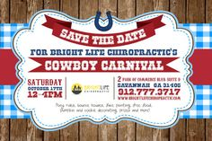 FREE Cowboy Carnival 2015 Savannah. Pony rides, bounce houses, games, pumpkin & cookie decorating, music, FREE FOOD and more! Details: http://www.southernmamas.com/2015/free-cowboy-carnival-bright-life-chiropractic-savannah-oct-17/