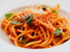 Mama DePandi's Bucatini Pomodoro Recipe... So good at RPM Italian in Chicago! Must try this recipe