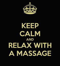 Keep #calm and relax with #massage..