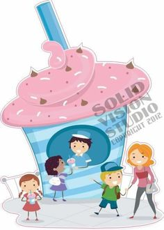 "14"" Ice Cream Milkshake Fun Concession Trailer Food Truck Restaurant Sign Decal"