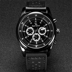 13.99$  Buy here - http://aligpa.shopchina.info/1/go.php?t=32675722962 - 5cm Big Watches Men V6 Top Luxury Brand Leather Quartz Watch Men Business Army Military Sport Watch Montres de Marque de Luxe  #SHOPPING