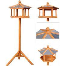 New design Gazebo Standing alimentador de pássaros / de madeira casa do pássaro com suporte / palomar