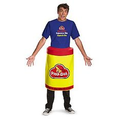 Disguise Hasbro Games Play Doh Deluxe Mens Adult Costume Red/Yellow ** Details could be discovered by clicking on the picture. (This is an affiliate link). Cosplay Costumes For Men, Funny Costumes, Group Costumes, Adult Costumes, Halloween Costumes, Halloween Nails, Bow Staff, Arrow Costume, Play Doh Fun