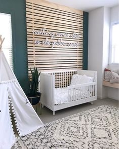 California (baby) girls, they're undeniable! We are SO smitten over this DIY… California (baby) girls, they're undeniable! We are SO smitten over this DIY wood wall and neon sign. hits it out of… Baby Boy Nursery Room Ideas, Baby Boy Rooms, Baby Bedroom, Baby Room Decor, Kids Bedroom, Baby Girls, Project Nursery, Room Baby, Wood Wall Nursery