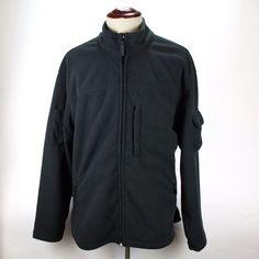Duluth Trading Co Fleece Jacket Coat size XL Mens Black Full Zip Polyester EUC #DuluthTradingCo #FleeceJacket
