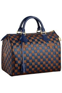 Louis Vuitton Blue Damier Paillettes Speedy 30 Bag   #LouisVuitton  #handbags