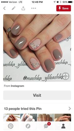 Nails minus the jewels Shellac Nails, Manicure And Pedicure, Toe Nails, Pedicures, Aloha Nails, Glitter Accent Nails, Bridal Nails, Finger, Gel Nail Designs