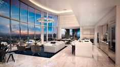 A Two-Story Penthouse Atop Fort Lauderdale, Florida's Tallest Building - Mansion Global Building A Pool, Minimalist Apartment, Modern Style Homes, Railing Design, Room Planning, Design Your Home, Luxury Living, Modern Luxury, New Construction