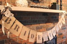 Bride To Be Burlap Banner - Rustic Bridal Shower Decor on Etsy, $38.00
