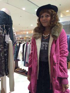 「リップスター」のコート。落ち着いたピンクのコートは、一番人気!