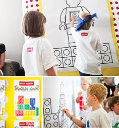 lego coloring, pin the dot on the lego man, lego games and ideas for parties