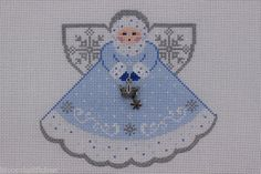 Painted Pony Designs Snow Queen Icy Blue Angel 996ET HP Needlepoint Canvas | eBay