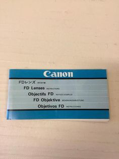 Canon FD Lenses Instructions Manual / Booklet~Good  Condition #CANON