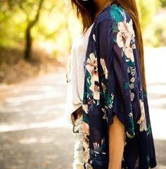 Floral print kimonos.