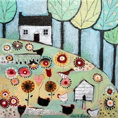 Country Cottage Garden by Louise Rawlings