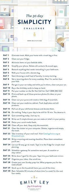 30 easy, tactical steps to your best life. Join our Simplicity Challenge today! … 30 easy, tactical steps to your best life. Join our Simplicity Challenge today! Minimalism Challenge, Fee Du Logis, 30 Tag, Life Hacks, Vie Simple, Minimalist Lifestyle, Life Organization, Konmari, Simple Living