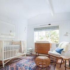 Mid Century Modern Crib, Vintage, nursery, Amber Interiors