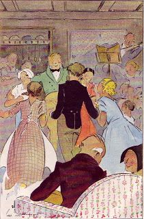"""Pictures from an Old Book: """"Conte De Noel"""", Charles Dickens, illustrations by A.Pecoud (Paris 1952)"""